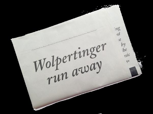 Ausstellungszeitung »Wolpertinger run away«